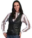 [Scully  Ladies Leather Vest]
