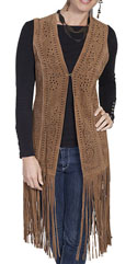 [Scully Ladies Long Fringe Vest]
