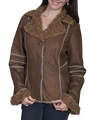 [Scully  Ladies Faux Fur & Suede Jacket]
