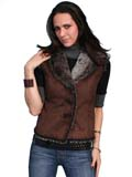 [Scully  Ladies Suede & Faux Fur Vest]
