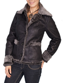 [Scully  Ladies Faux Fur Jacket]