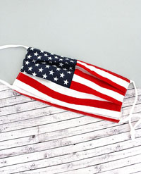 [CLOSEOUT ITEM Two-Layer Pleated Fashion Face Mask  - American Flag]