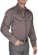 [Scully Westerns Western Santa Rosa Shirt]