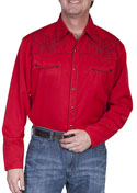 [Scully Westerns Western Boot Stitch Shirt]
