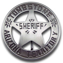 [ Sheriff, Tombstone A.T. Badge]
