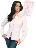 [Scully Westerns Pink Ribbon Shirt]