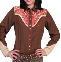 [Scully Westerns Lady Western Frontier Shirt]