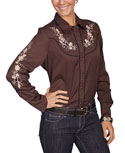 [Scully Westerns Lady Desert Garden Blouse]