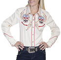 [Scully Westerns Lady Desert Sugar Skull Shirt ]