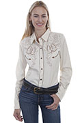 [Scully Westerns Round Up Blouse]