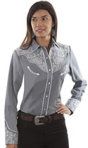 [Scully Westerns Chantilly Lace Blouse]