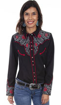 [Scully Westerns Lady Sierra Rose Blouse]