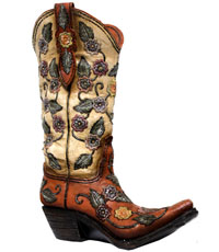 [Western Homegoods Boot Panter/Vase]