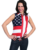 [Scully Rangewer Ladies Independence Sleeveless Shirt]