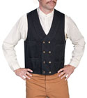 [Scully Double Breasted Canvas Vest]