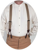 [Scully Rangewear Diamond Print Suspenders ]