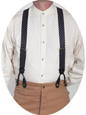 [Scully Rangewear Polka-dot Suspenders ]
