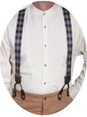 [Scully Rangewear Plaid Suspenders ]