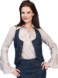 [Scully Contemporary Westerns Denim Vest*]