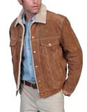 [Scully Men's Suede Jacket  w/Sherpa Lining]