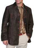 [Scully Men's Leather Car Coat]