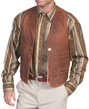 [Scully Leather Concho Vest]