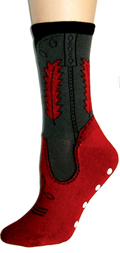 [Foot Traffic Cowgirl Boot Slipper Sock]