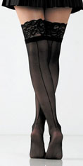 [ Lace Top Sheer Thigh Highs]
