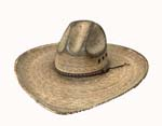 [Twister Hats Gus Fired Palm Straw Hat]
