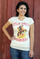 [ Outlaw Cowgirl's Wanted Tee]