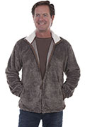 [Scully Contemporary Westerns Plush Zip Front Jacket]