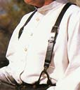 [Classic Old West Styles Plain Leather Suspenders]
