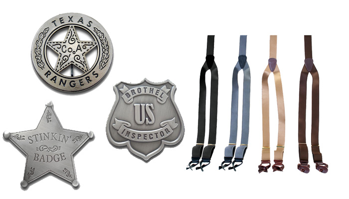 Old West Badges and Suspenders