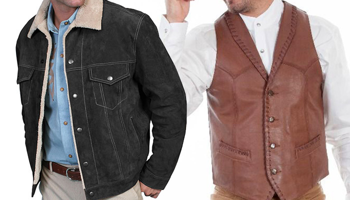 Men's Leather Vests and Coats
